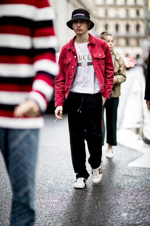 White, Street fashion, Photograph, Red, People, Fashion, Clothing, Jeans, Standing, Snapshot,