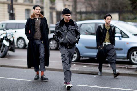 Street fashion, Fashion, Pedestrian, Footwear, Snapshot, Outerwear, Street, Jacket, Vehicle, Car,