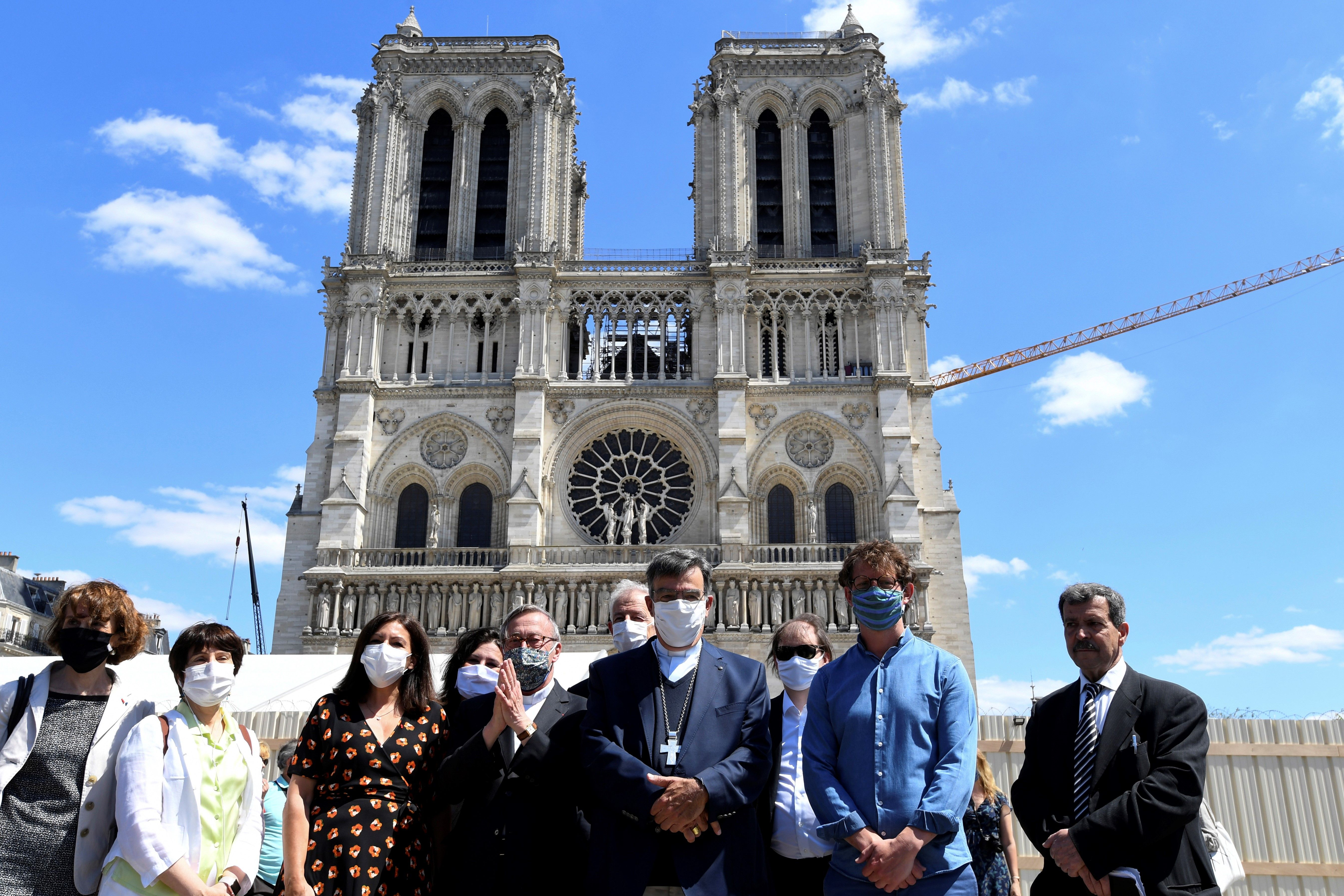 Notre Dame's Forecourt Has Reopened for First Time Since Last Year's Fire