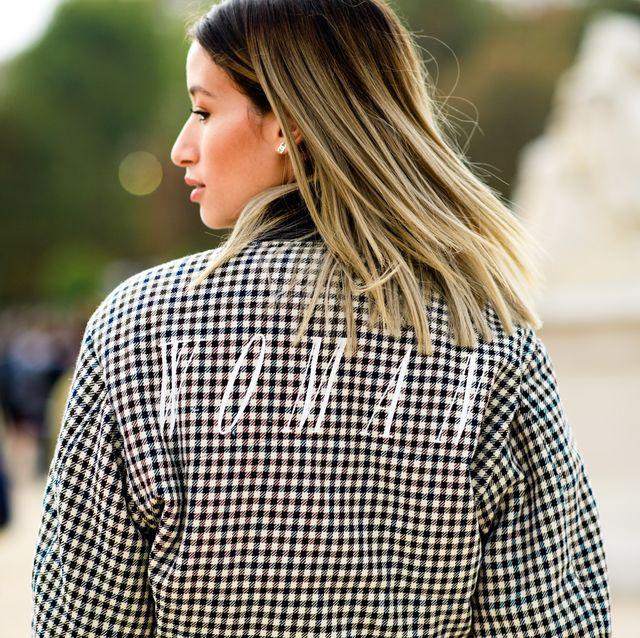 Plaid, Hair, Street fashion, Clothing, Pattern, Tartan, Fashion, Shoulder, Beauty, Hairstyle,