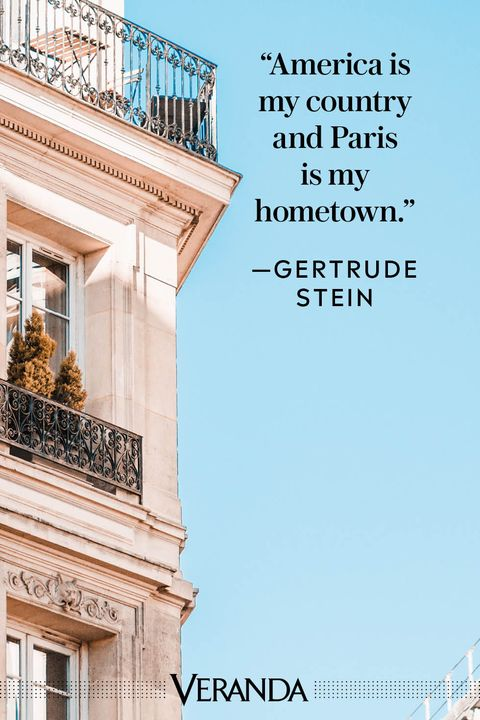 Veranda Paris Quotes Gertrude Stein
