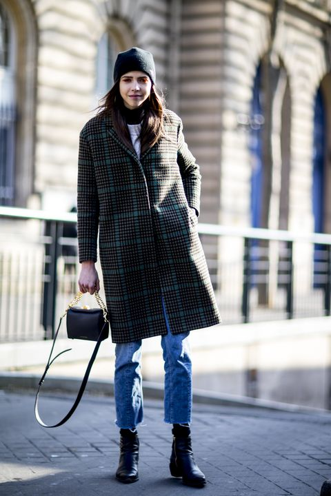 Clothing, Street fashion, Photograph, Fashion, Plaid, Snapshot, Coat, Tartan, Beanie, Outerwear,