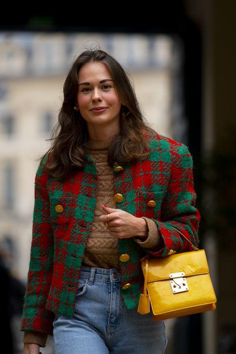 Sleeve, Denim, Jeans, Textile, Bag, Outerwear, Pattern, Style, Coat, Collar,