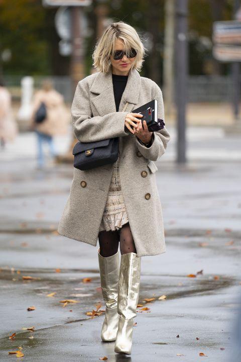 Clothing, Coat, Road, Textile, Street, Bag, Outerwear, Sunglasses, Fashion accessory, Street fashion,