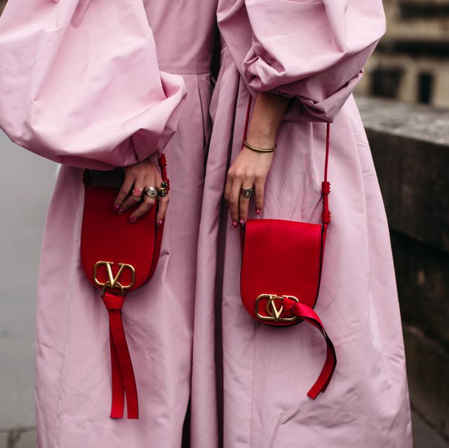 White, Pink, Red, Street fashion, Fashion, Outerwear, Material property, Textile, Magenta, Photography,