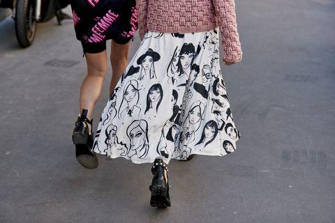 Clothing, White, Street fashion, Waist, Fashion, Leg, Pink, Footwear, Joint, Dress,
