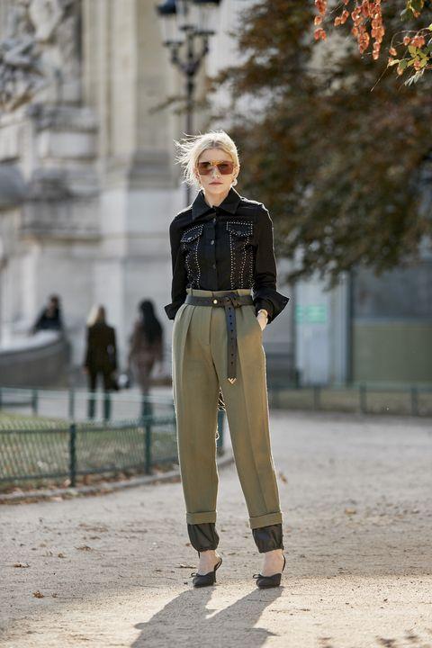 come abbinare i pantaloni a vita alta, pantaloni a vita alta inverno 2019, tendenza pantaloni a vita