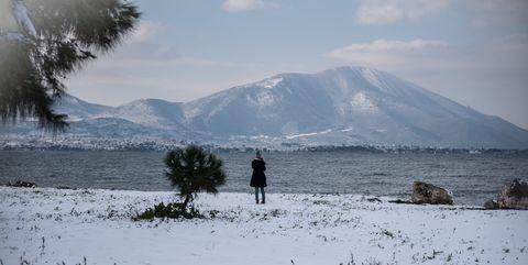 Heavy Snowfall In Greece