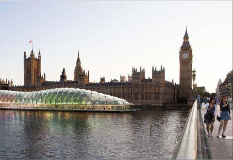 Architecture, Clock tower, City, Spire, Tower, Tourism, Landmark, Steeple, Travel, Reflection,