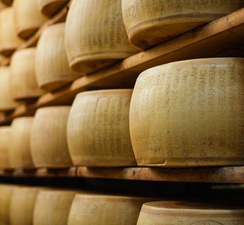 Parmesan Cheese in Emilia-Romagna, Italy