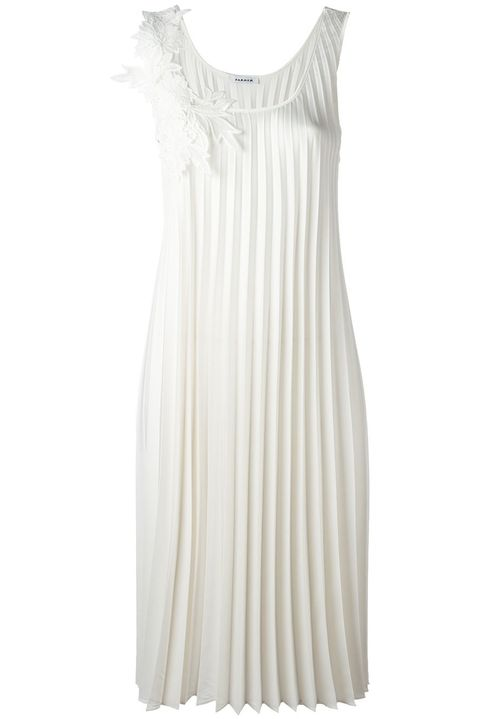 Clothing, White, Dress, Day dress, Cocktail dress, Nightgown, Beige, Neck, Sleeve, Gown,