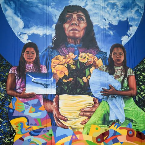 COLOMBIA-LITERATURE-GARCIA MARQUEZ-PAINTING
