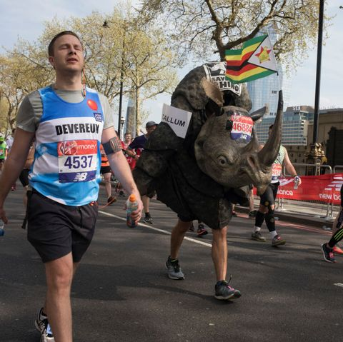 London Marathon back of the pack