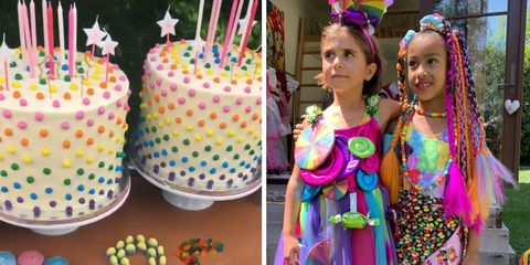 Birthday party, Food, Birthday, Cake, Cake decorating, Party, Baked goods, Birthday cake, Party supply, Icing,