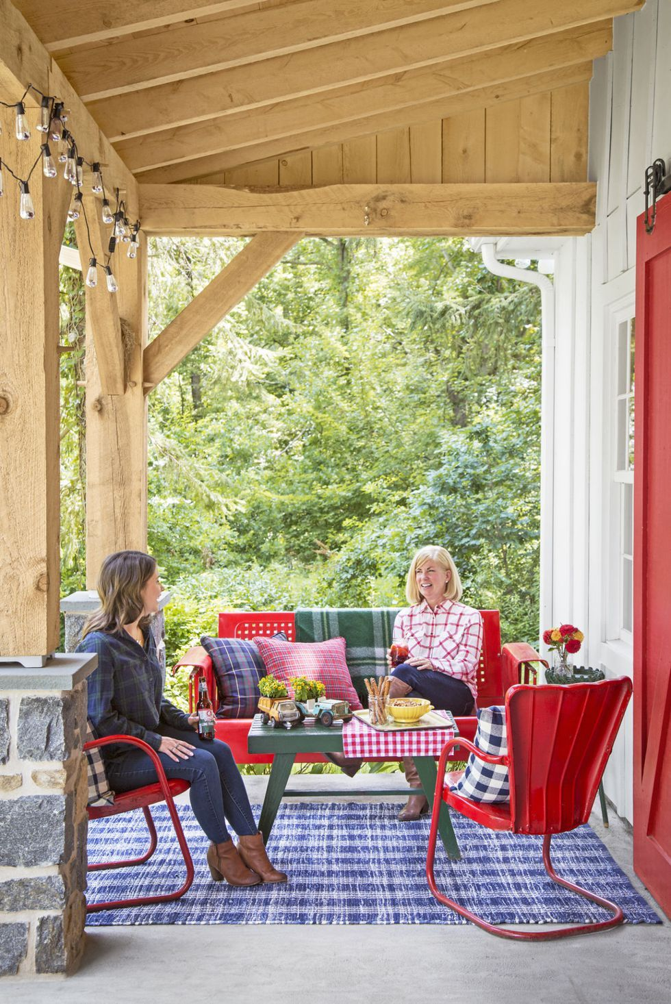 76 best patio designs for 2019 ideas for front porch and patio rh countryliving com porch decorating ideas on a budget porch decorating ideas for christmas