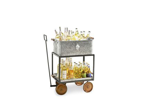 Cart, Vehicle, Snack, Table, Popcorn, Candle holder, Furniture, Glass, Popcorn maker,