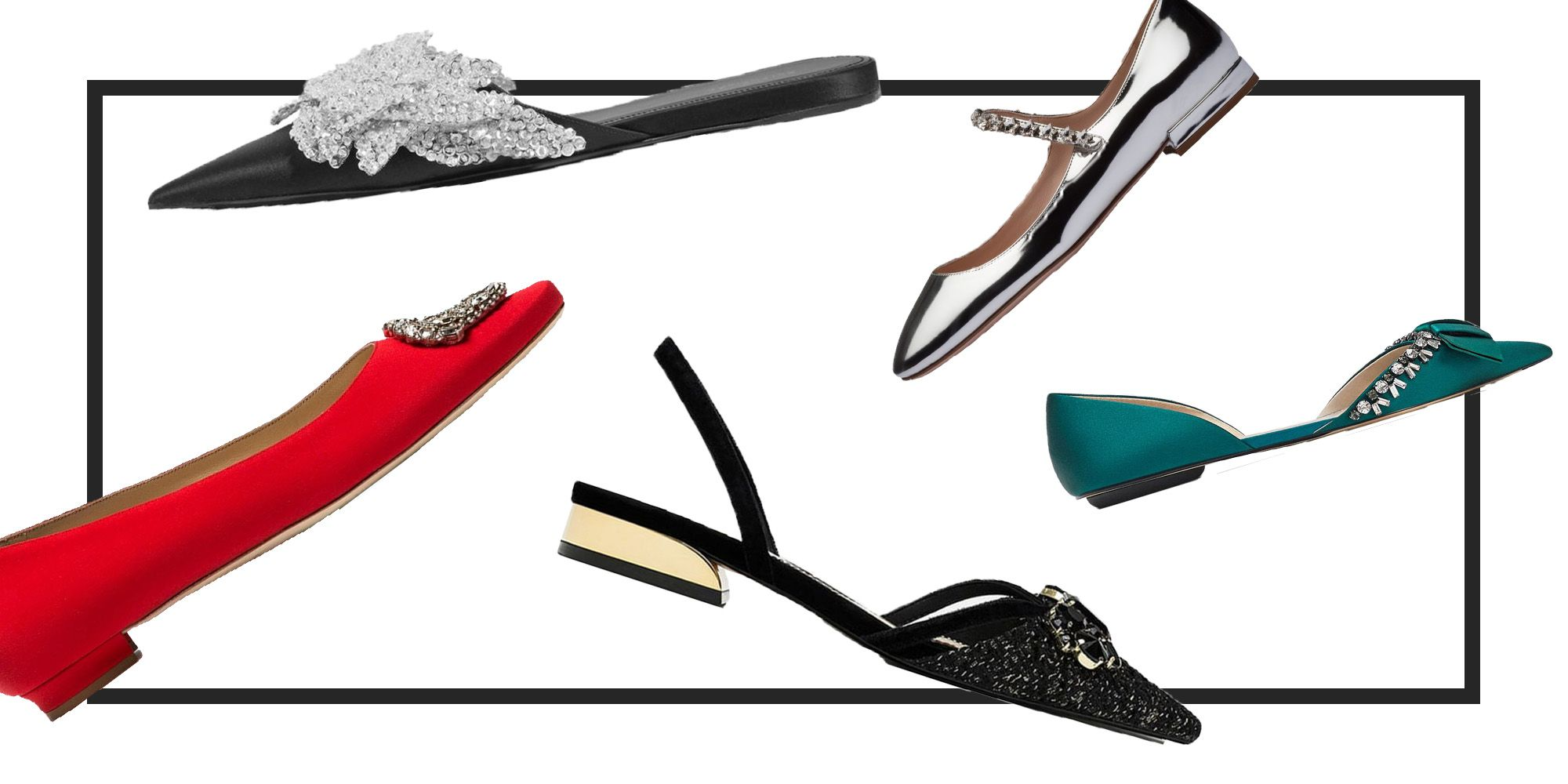 8 pairs of flats that are perfect for party season
