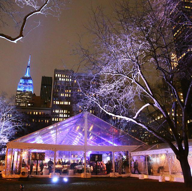 Night, Lighting, Light, Landmark, Tree, Sky, Purple, City, Metropolitan area, Winter,