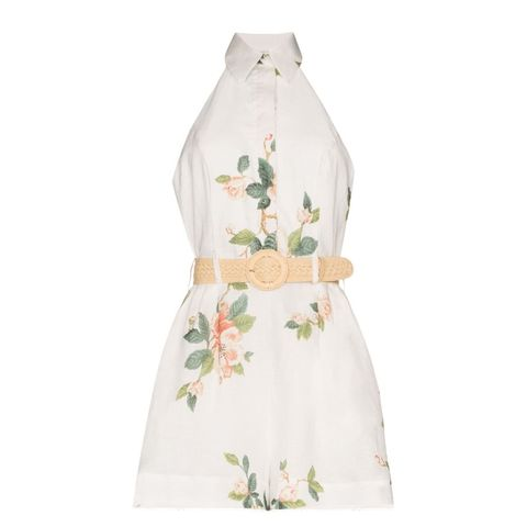 White, Clothing, Dress, Day dress, Outerwear, Gown, Beige, Plant, Pattern, Cocktail dress,