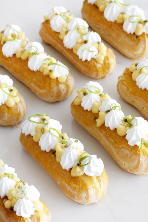 passion fruit meringue eclairs