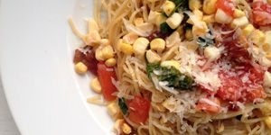 Angel Hair with Bacon and Sweet Corn with 300x150