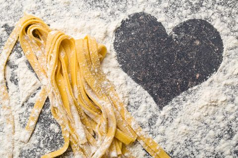 pasta and heart