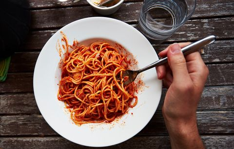 pasta carbo load