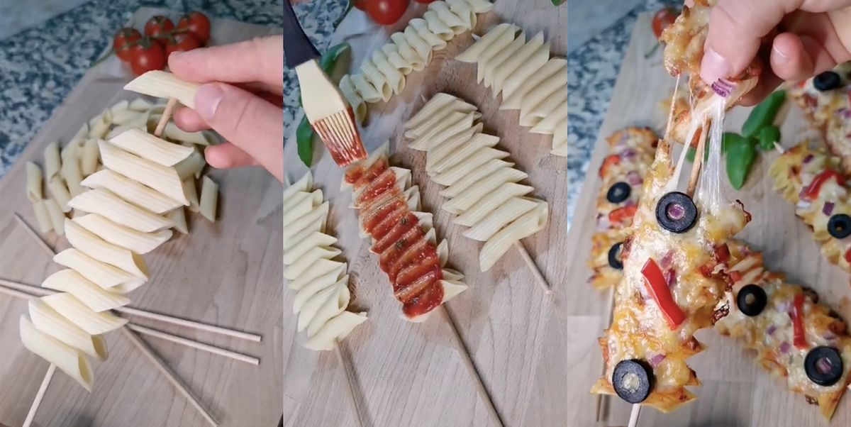 People Are Making Pasta Skewers On TikTok, And They're Loaded With Cheese