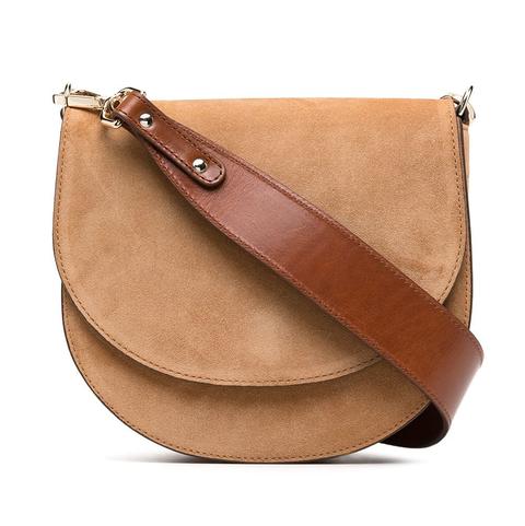 closed leather crossbody bag