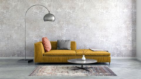 Mustard sofa photo