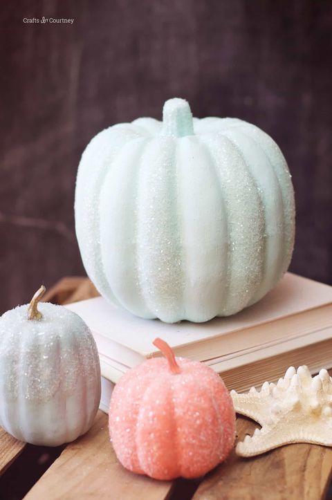 pastel glitter pumpkins