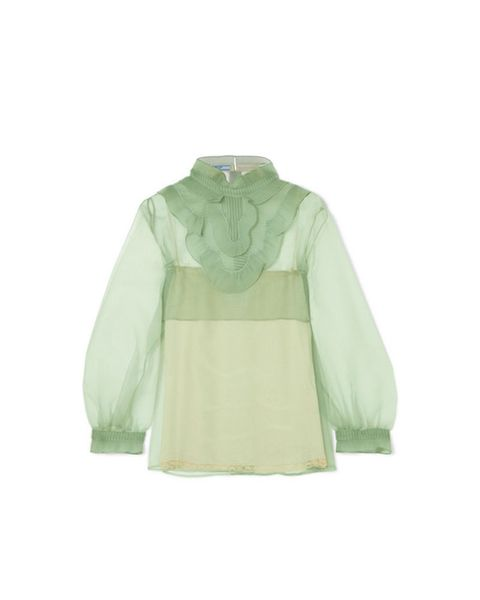 Clothing, White, Sleeve, Green, Outerwear, Jacket, Blouse, Beige, Hood, Collar,