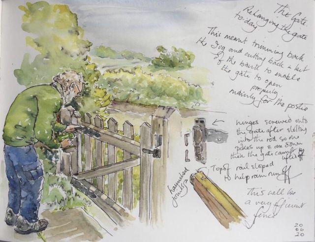 pat williams creates beautiful artwork of her life in lockdown