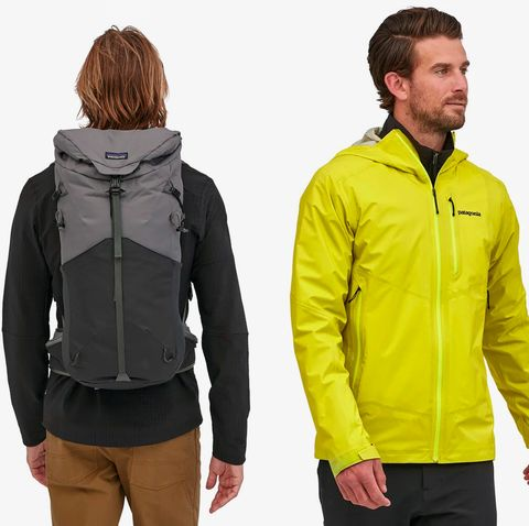three people wearing patagonia clothing