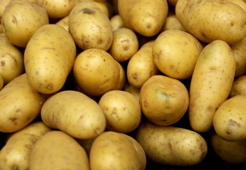 Yellow, Local food, Produce, Vegan nutrition, Natural foods, Potato, Root vegetable, Whole food, Vegetable, Solanales,