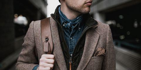 Clothing, Street fashion, Jacket, Outerwear, Fashion, Neck, Blazer, Collar, Tie, Fashion accessory,