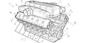 Ferrari patente motor V12