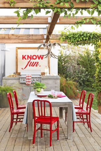 patio cover ideas - wood beam