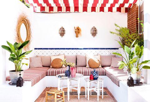 patio de estilo andaluz y marroquí