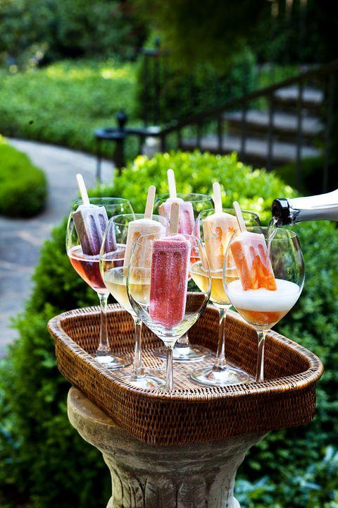 patio ideas beverage tray