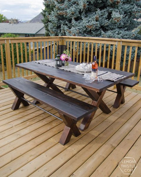 25 Diy Picnic Tables Best, Wooden Outdoor Table Plans Free