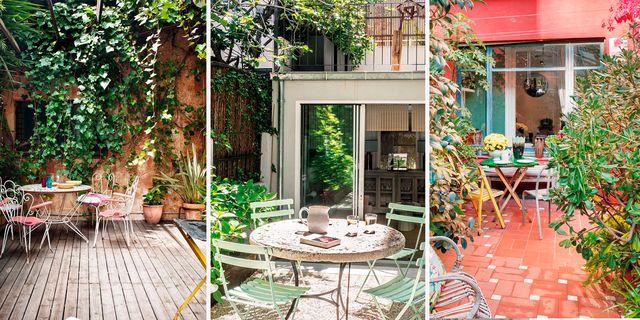 casas de ciudad con patios ajardinados