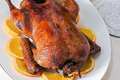 Pato a la naranja lacado