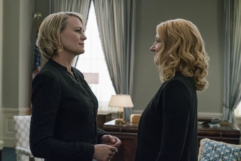 Robin Wright and Patricia Clarkson in House of Cards