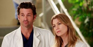 Patrick Dempsey as Derek, Ellen Pompeo as Meredith Grey, Grey's Anatomy