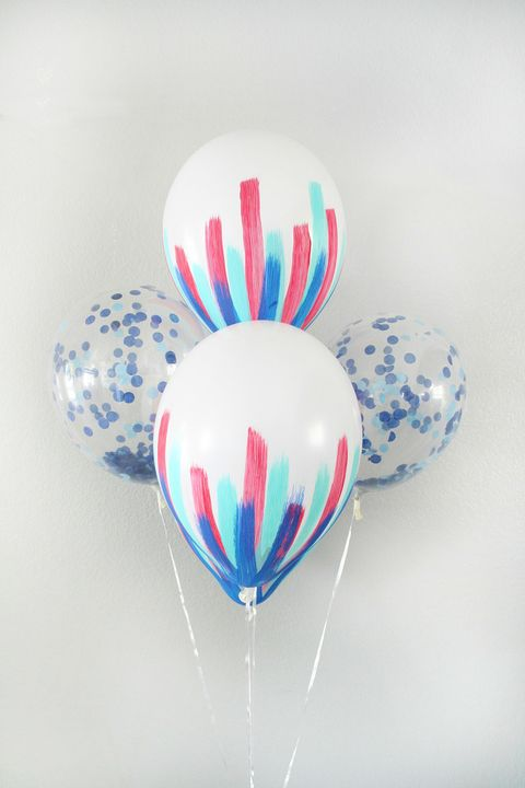 patriotic painted balloons