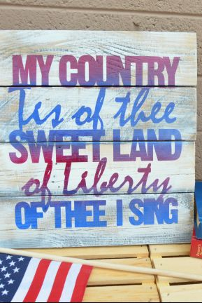 4th of july sign art