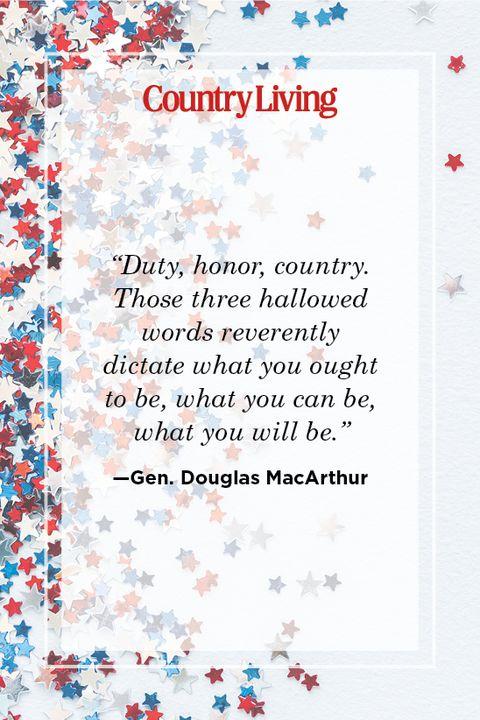patriotic quote by gen douglas macarthur