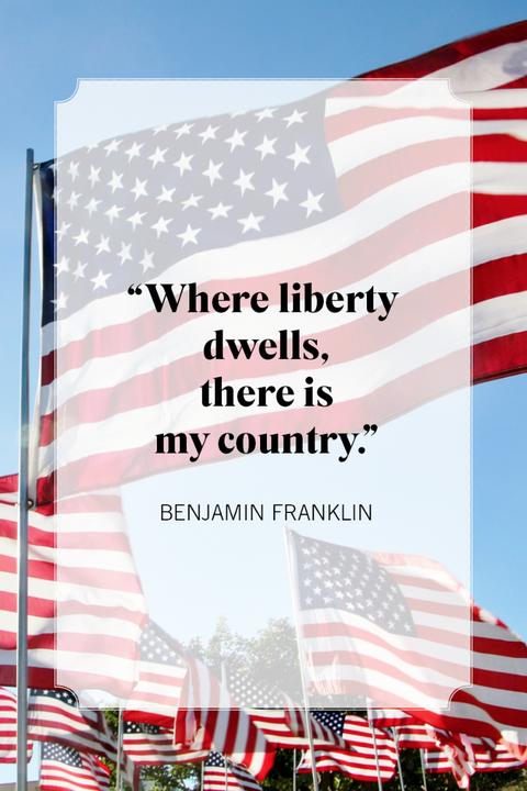 patriotic quotes benjamin franklin