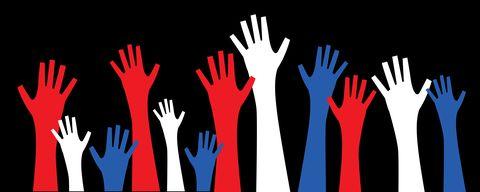 Patriotic Voting Hands